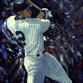 Derek Jeter Painting by Edgar J. Brown