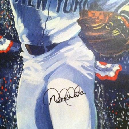 Derek Jeter Signed Artwork