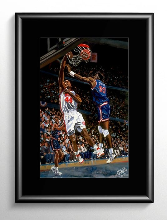 Coleman vs Ewing Basketball Painting