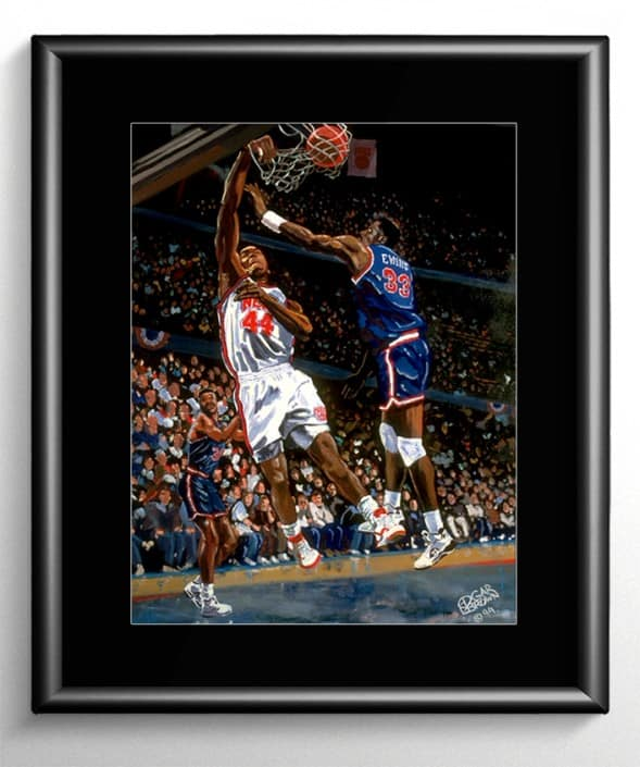 Knicks vs Nets Basketball Painting