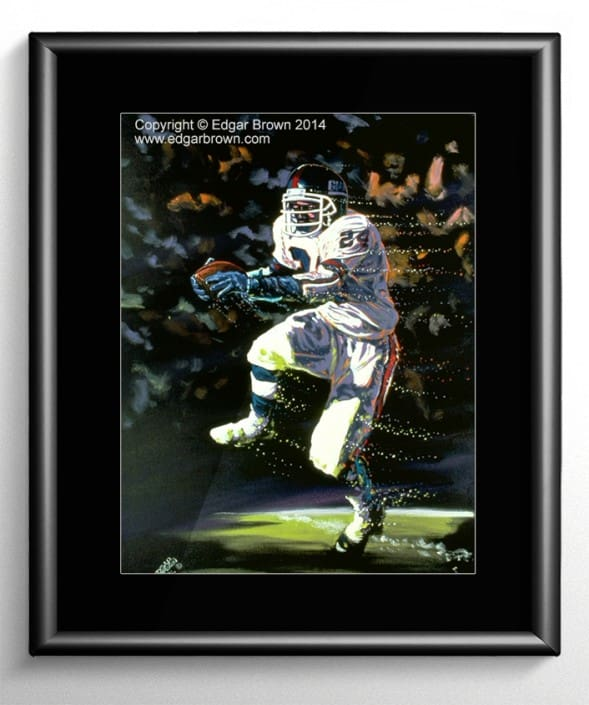 Ottis Anderson Football Painting