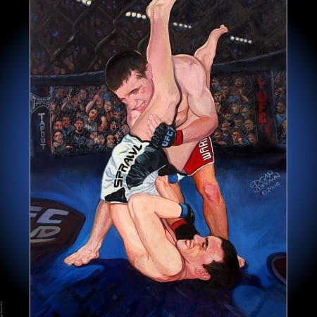 MMA Poster titled Victory