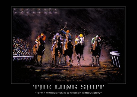 Horse Racing Poster the Long Shot